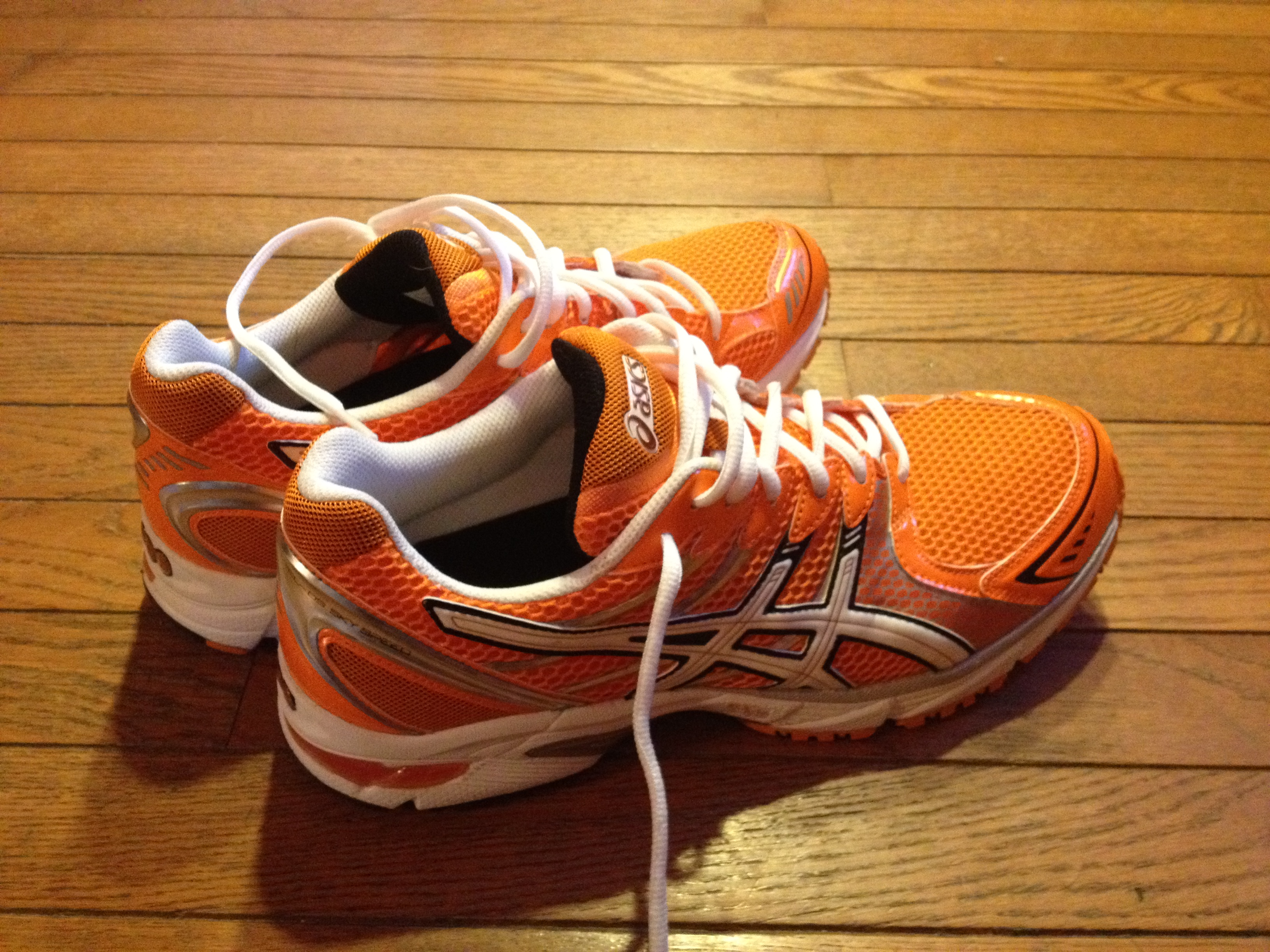 Asics Orange Running Shoes